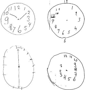 4 clockfaces
