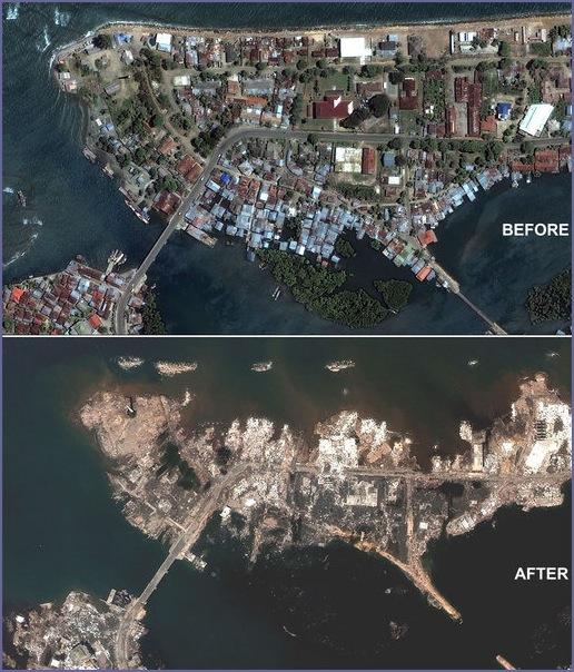 Effect of tsunami